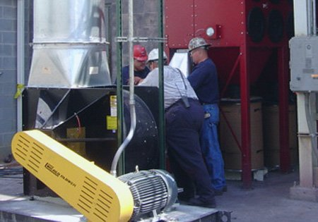 industrial dust system maintenance