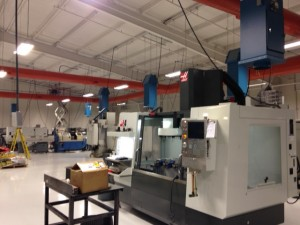 CNC machines with air cleaning equipment